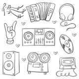 Garabatos comunes del tema de la música de la colección libre illustration