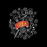 Garabatos creativos del arte stock de ilustración