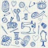 Garabatos de costura Fotografía de archivo