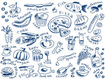 Garabatos de la comida Imagen de archivo libre de regalías
