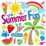 Garabatos de la diversión del verano (vector) Imágenes de archivo libres de regalías