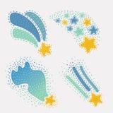 Garabatos de la estrella, sistema dibujado mano ilustración del vector