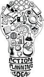 Garabatos de la idea del negocio stock de ilustración