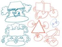 garabatos de los gráficos de negocio Imagen de archivo