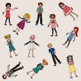 Garabatos de los niños ilustración del vector