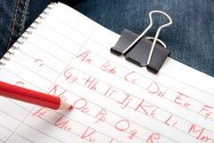 Garabatos del alfabeto Imágenes de archivo libres de regalías
