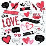 Garabatos del amor Imagen de archivo libre de regalías