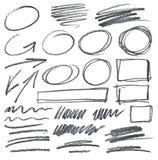 Garabatos del lápiz del vector Foto de archivo libre de regalías