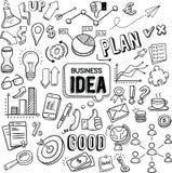 Garabatos del vector de la idea del negocio stock de ilustración