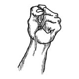 Garabatos dibujados mano del puño aumentado de la protesta Fotos de archivo libres de regalías