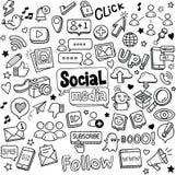 Garabatos sociales de los medios libre illustration