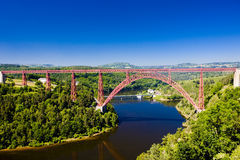 Garabit Viaduct. In Cantal Department, Auvergne, France Stock Photos