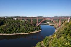 The Garabit Viaduct, France stock photo