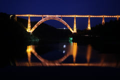 Garabit Viaduct by Night Stock Photo