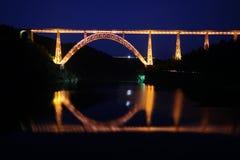 Garabit Viaduct by Night stock photo