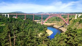 Garabit Viaduct. Royalty Free Stock Photography