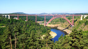 Garabit Viaduct. Royalty Free Stock Photo