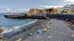 Garachico beaches and Atlantic ocean.  Spain. Royalty Free Stock Photo