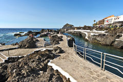 Garachico Natural pools in Tenerife Island Stock Image