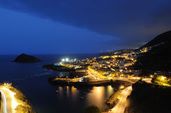 Garachico at night, Tenerife royalty free stock photo