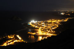 Garachico at night, Tenerife Royalty Free Stock Photos