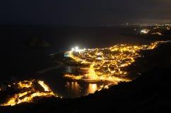 Garachico at night, Tenerife Royalty Free Stock Photos