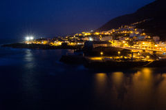 Garachico night view royalty free stock images