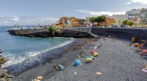Garachico plaże i Atlantycki ocean Hiszpania zdjęcie royalty free