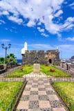 Garachico, Tenerife, Canarische Eilanden, Spanje: Castillo DE San Migu Stock Afbeelding
