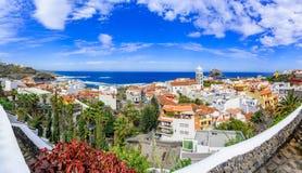 Garachico, Tenerife, Canarische Eilanden, Spanje: Overzicht van col. Royalty-vrije Stock Foto
