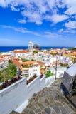 Garachico, Tenerife, Canarische Eilanden, Spanje: Overzicht van col. Stock Afbeelding