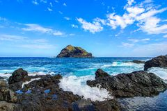 Garachico, Tenerife, Canary islands, Spain: Landscape of Roque de Garachico Stock Photos