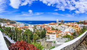 Garachico, Tenerife, Canary islands, Spain: Overview  of the col Royalty Free Stock Photo
