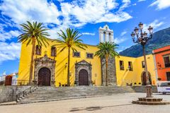 Garachico, Tenerife, Canary islands, Spain: San Francisco monastery exterior and main square Stock Photo