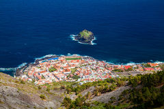 Garachico town from above royalty free stock photos
