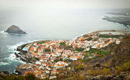 Garachico town viewscape on the coast of Tenerife,  Spain Royalty Free Stock Images
