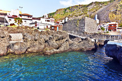 Garachico village and Natural pools in Tenerife Island Royalty Free Stock Images