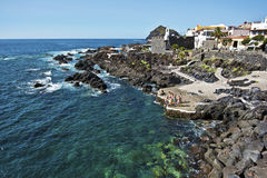 Garachico village and natural pools Stock Image