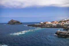 Garachico volcanic coastline, Tenerife, Canary islands royalty free stock images