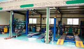 Garage. Inside of a deserted car garage Royalty Free Stock Image