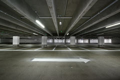 Garage. With an arrow that points the way out Royalty Free Stock Photos