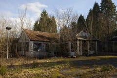 Garage abandonné Image stock