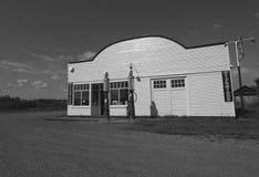 Garage With Antique Gas Pumps Stock Photos