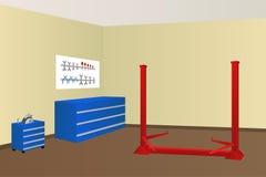 Garage auto repair room illustration Stock Image