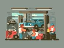 Garage auto service Stock Image