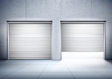 Garage avec la composition en deux entrées illustration libre de droits
