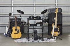 Garage-Band-Installation Stockfotos