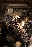Garage binnen Stock Foto