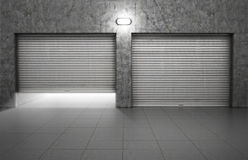 Garage building made Royalty Free Stock Image