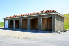 Garage Building Under Construction. Close up of the garage building under construction Royalty Free Stock Image